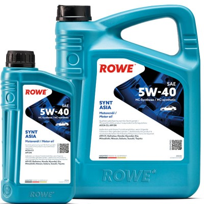 Моторное масло ROWE Hightec Synt Asia SAE 5W-40